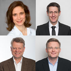 Top row, left to right: Dr. Irmgard Heinz, Andreas Pohle; bottom row: Hartmut Scheffler, Holger Laube